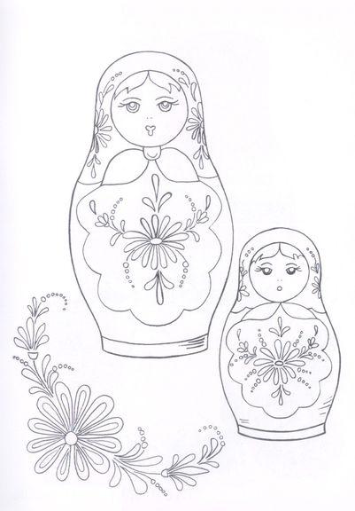 Раскраска 2 матрешки | РАСКРАСКУ .РФ - распечатать и скачать Картинки Раскраски Винкс Блум