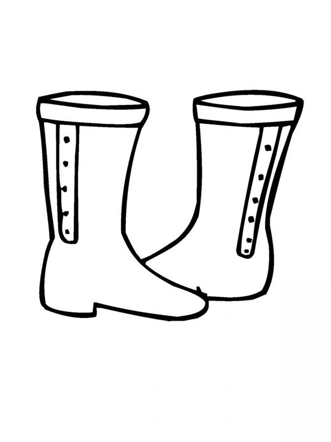 Раскраски обувь для детей распечатать - 4
