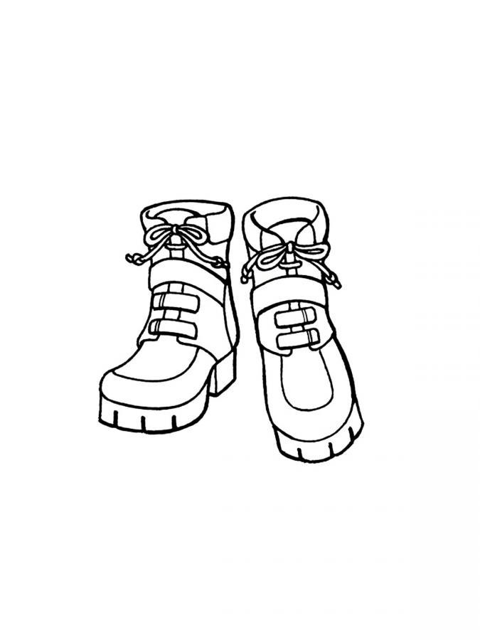 раскраска ботинки раскраску рф распечатать и скачать