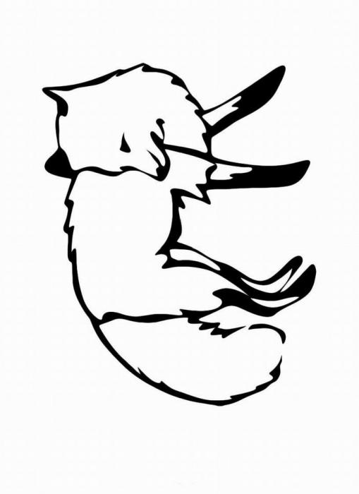 Раскраска лиса