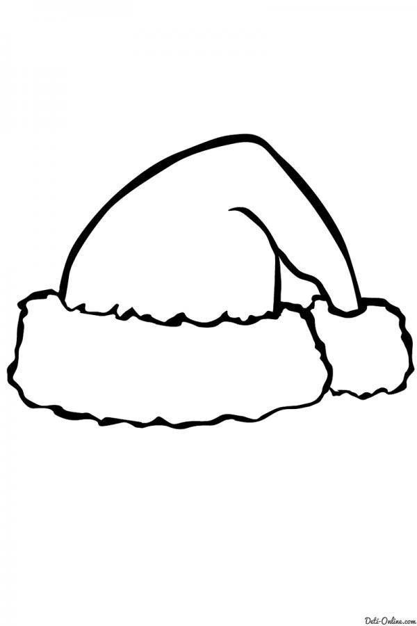 Раскраска для малышей шапка