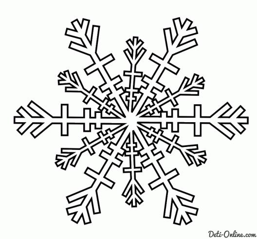 Картинки раскраска снежинки