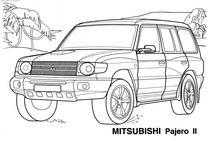 Раскраски Джипы MITSUBISHI Pajero II | РАСКРАСКУ .РФ ...