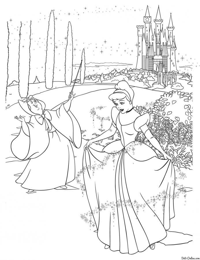 Принцесса диснея раскраска распечатать