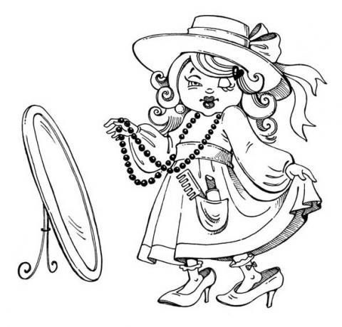 Раскраска модница маленкая