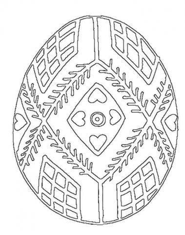 Раскраска пасхальное яйцо узор пасхальный