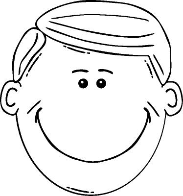 Раскраска Лицо улыбающегося мальчика