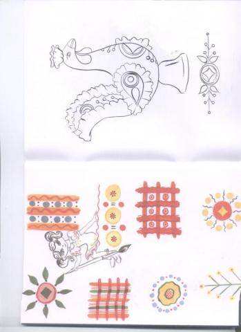 Раскраска дымковская игрушка петушок