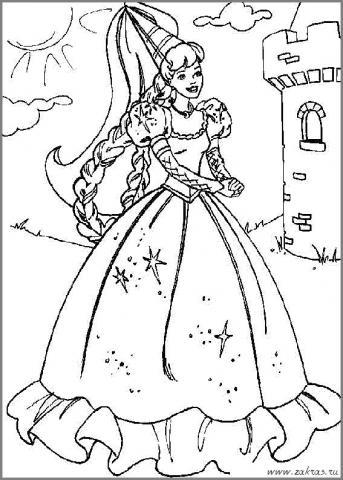 Раскраска королева у замка