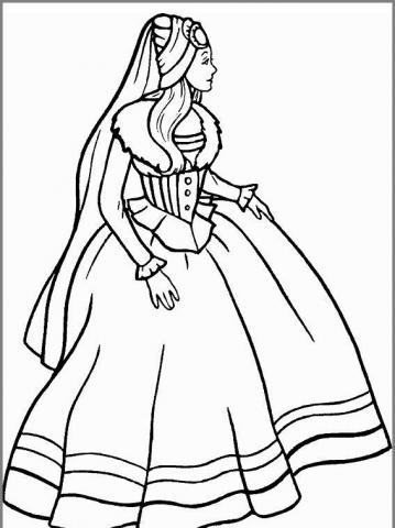 Раскраска королева  смотрит в даль