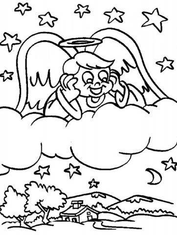 Раскраска Ангелочки