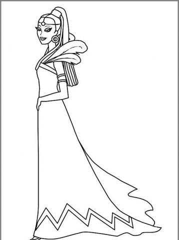 Раскраска королева танцует