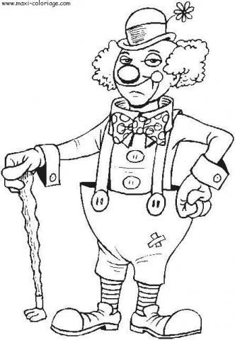 Раскраска цирк добрый клоун