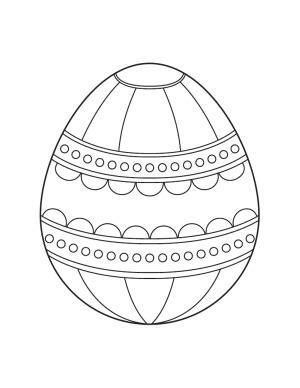 Раскраска пасхальное яйцо