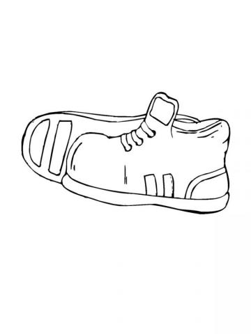 Раскраска детская обувь