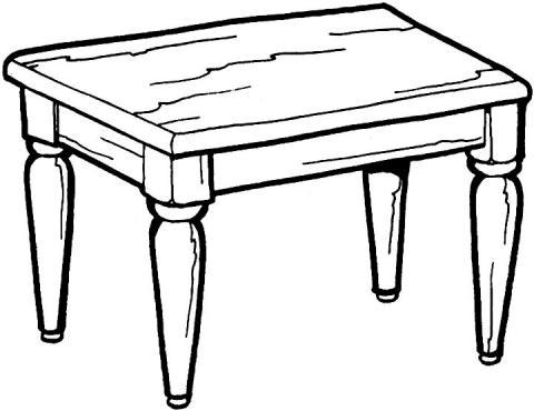 Раскраска мебель стол