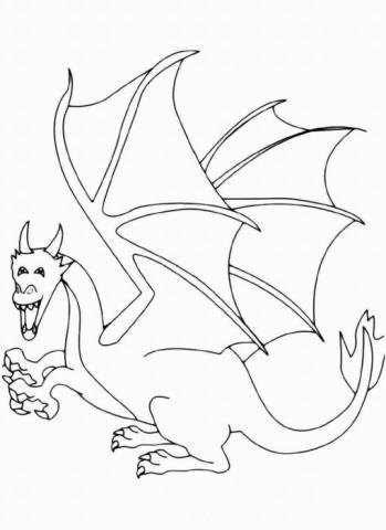 "Раскраска ""Дракон"""