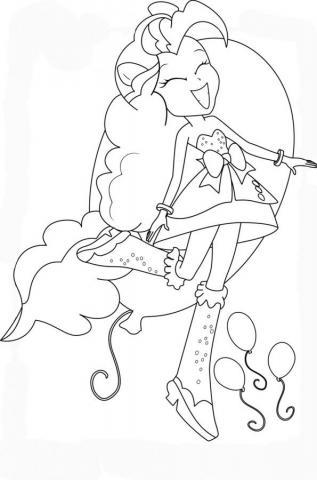 Раскраски девушки эквестрии пинки пай