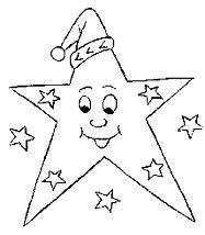 Раскраска звезда  улыбаетса