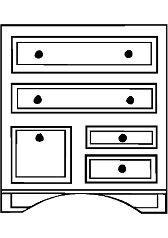 Раскраска мебель комод