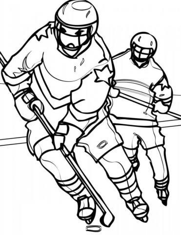 Раскраски спорт хоккей