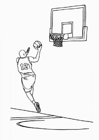 Раскраски спорт баскетбол