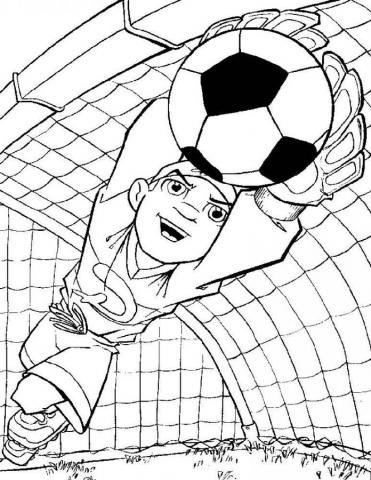 Раскраски спорт футбол