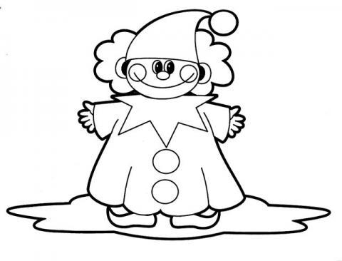 Раскараска клоун