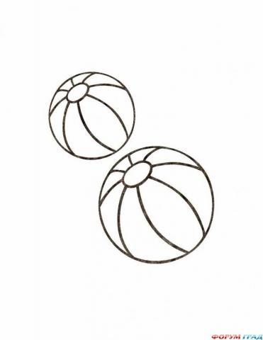 Раскраска мячи