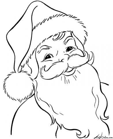 Раскраска Приветствие Дедушки Мороза