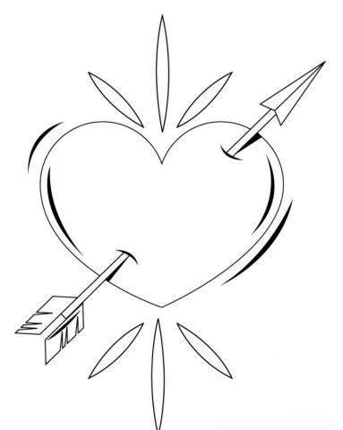 Раскраска Разбитое сердце