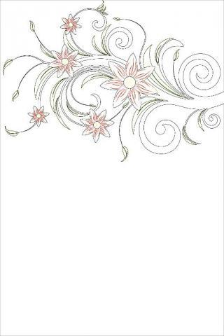 Раскраска узор вариант открытки