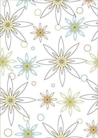 Раскраска много цветочков в геометрическом порядке