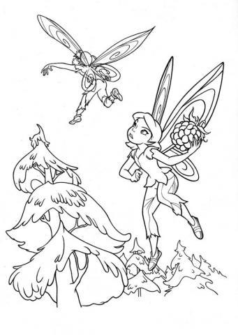 Раскраска фея и елки