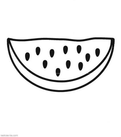 Раскраска долька арбуза