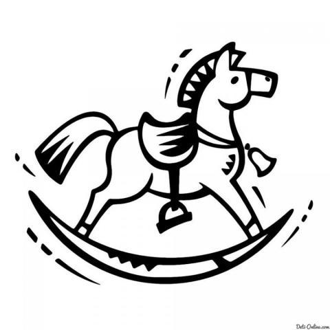 Раскраска Игрушка - лошадь