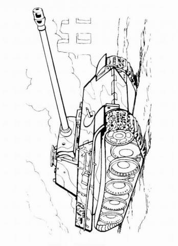 Раскраски танк