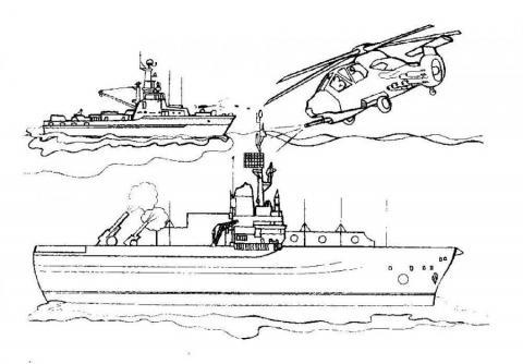 Раскраска корабли