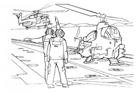 Раскраска вертолеты