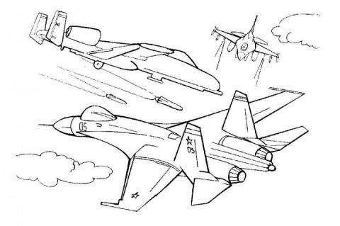 Военные раскраски самолет