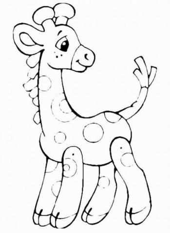 Раскраска  игрушки  жираф