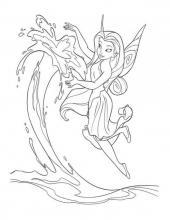 Раскраска фея летает