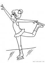 Раскраски фигуристка в танце
