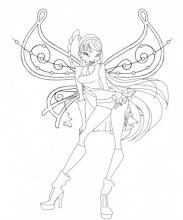 Раскраска фиксики с крыльями модница