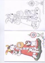 Раскраска дымковская игрушка коза
