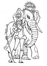 Раскраска цирк слон