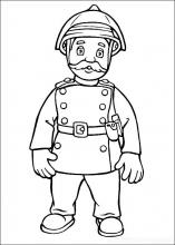 Раскраска пожарный в каске