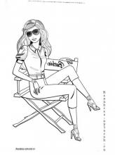 Раскраски модница на стуле