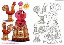 Раскраска народная Филимонская игрушка
