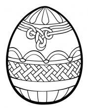 Раскраска пасхальное яйцо  узором